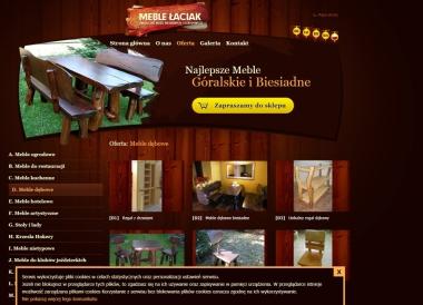 Drewniane meble restauracyjne Łaciak